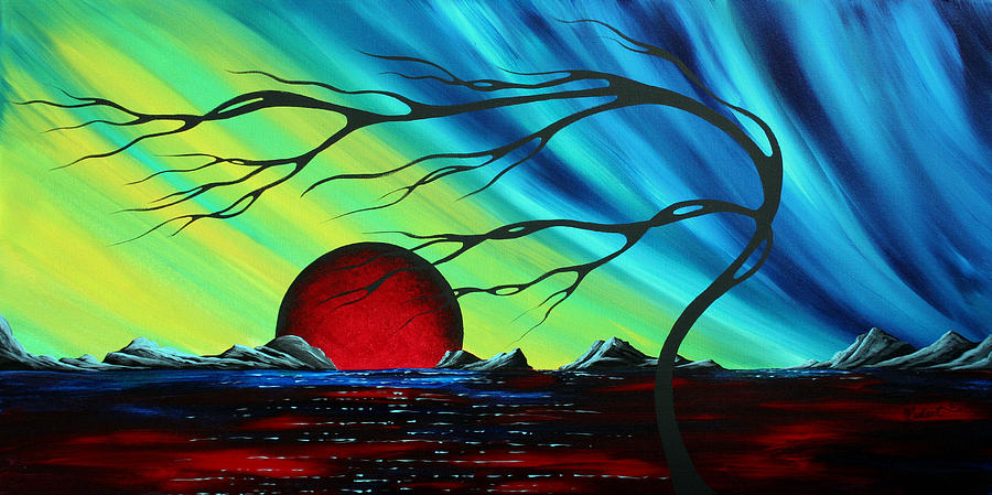 Abstract Art Landscape Seascape Bold Colorful Artwork Serenity By Madart Painting