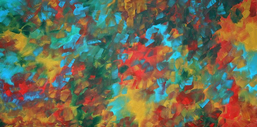 Abstract Art Original Colorful Painting Autumn Colors By Madart Painting  - Abstract Art Original Colorful Painting Autumn Colors By Madart Fine Art Print