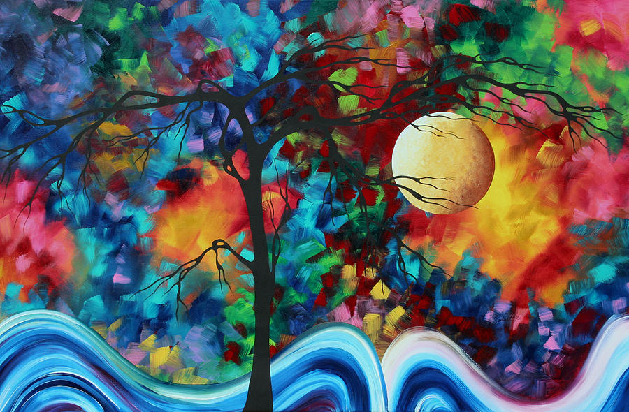 Abstract Art Original Enormous Bold Painting Essence Of The Earth I By Madart Painting