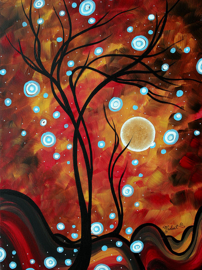 Wall Painting - Abstract Art Original Landscape Circle Painting Fairy Dust By Madart by Megan Duncanson