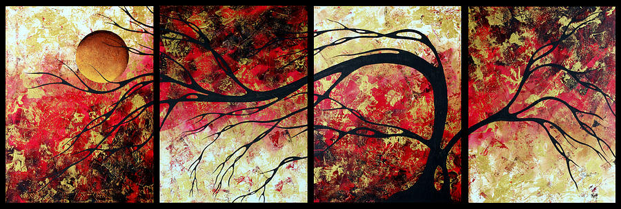Abstract Art Original Landscape Painting Bring Me Home By Madart Painting