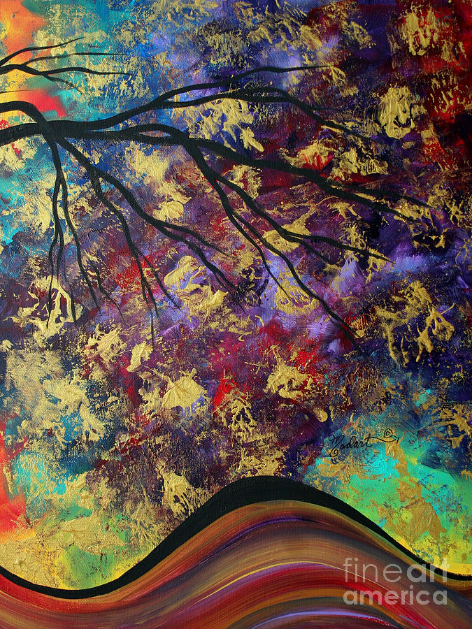 Abstract Painting - Abstract Art Original Landscape Painting Go Forth IIi By Madart Studios by Megan Duncanson