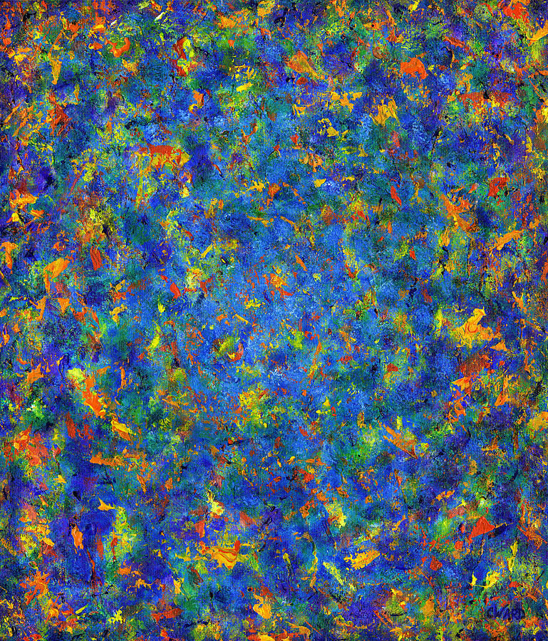 Abstract Blues Painting  - Abstract Blues Fine Art Print