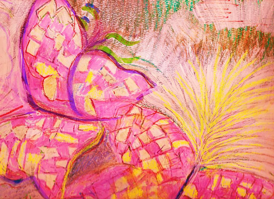 Abstract Butterflies Work In Progress Mixed Media