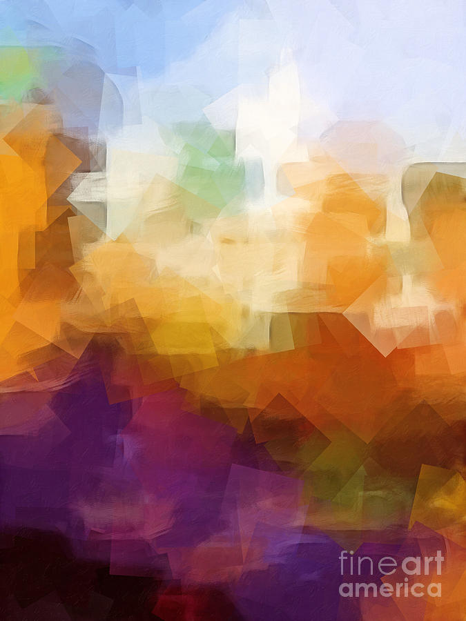 Abstract Cityscape Cubic Digital Art