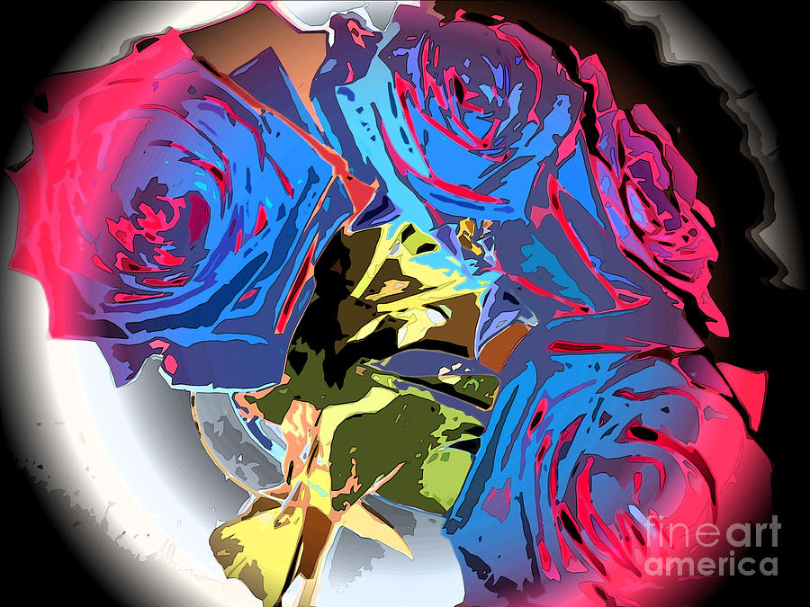 Abstract Cluster Of Roses Photograph