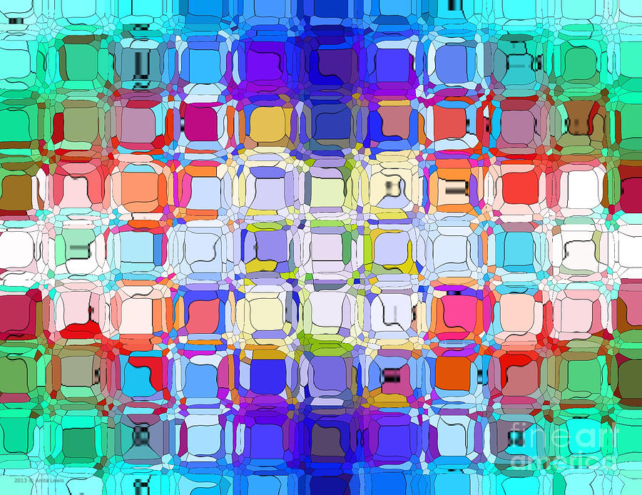 Abstract Color Blocks Digital Art
