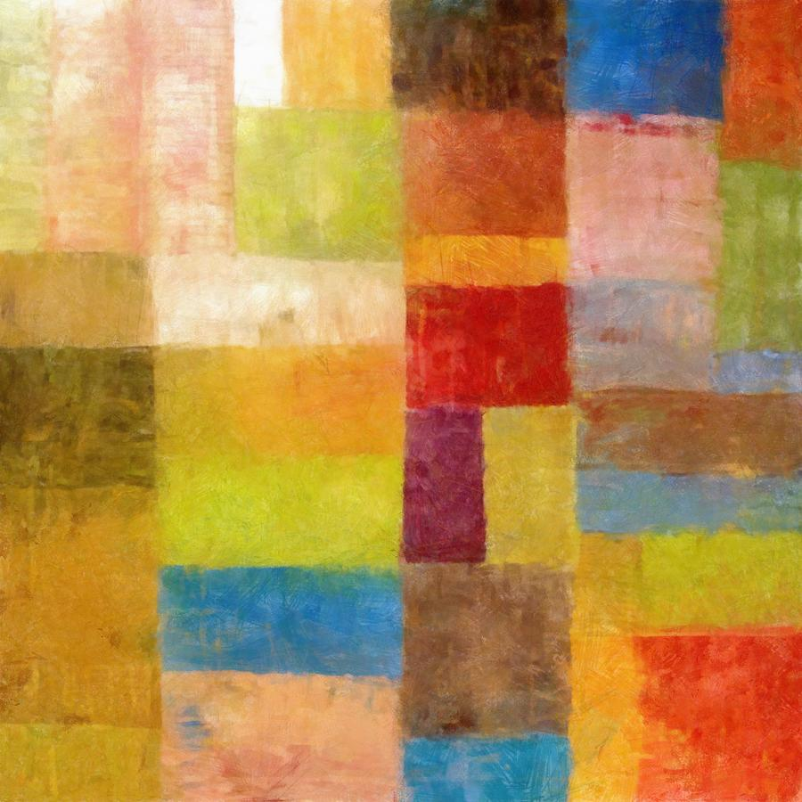 Abstract Painting - Abstract Color Study Vii by Michelle Calkins