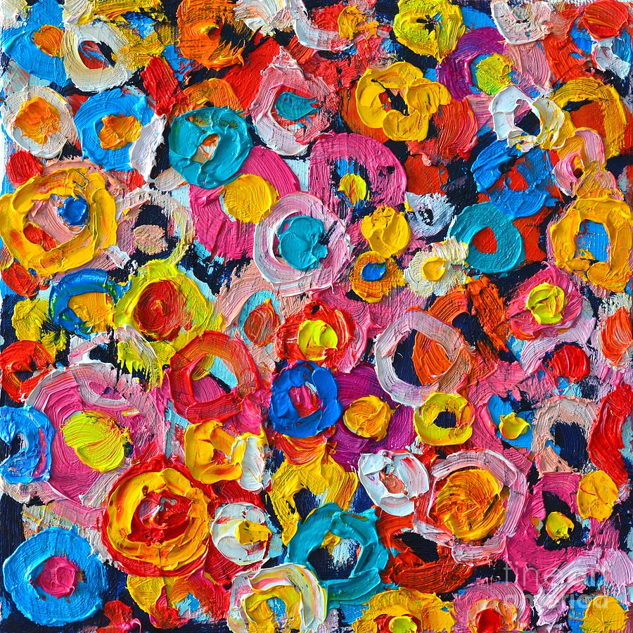 Download image Colorful Abstract Art Flowers PC, Android, iPhone and