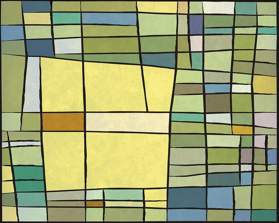 Decorative Digital Art - Abstract Cubist by Gary Grayson