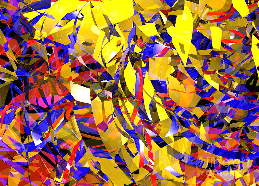 Abstract Curvy 14 Celebration is a piece of digital artwork by Russell ...