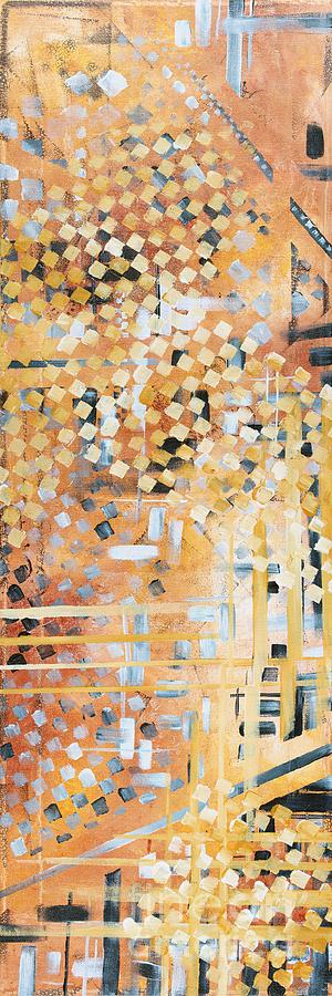 Abstract Decorative Art Original Diamond Checkers Trendy Painting By Madart Studios Painting