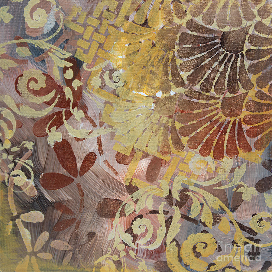 Abstract Decorative Surface Pattern Design Original Painting Art By Madart Studios Painting
