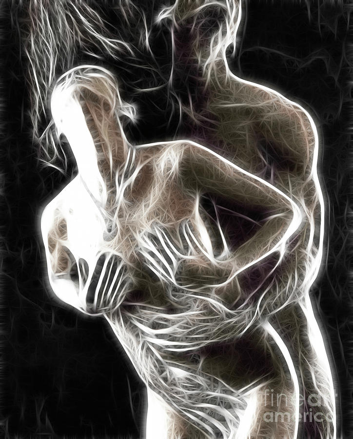 Abstract Digital Artwork Of A Couple Making Love Photograph