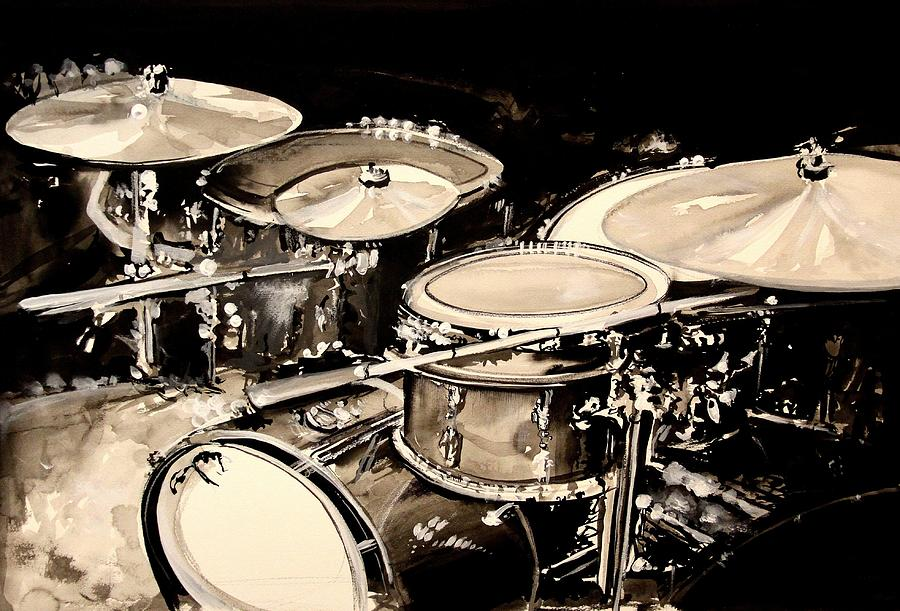 Abstract Drum Set Painting  - Abstract Drum Set Fine Art Print