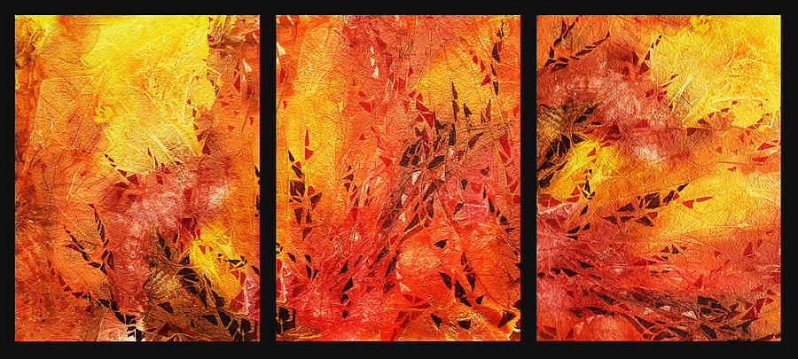 Abstract Fireplace Painting