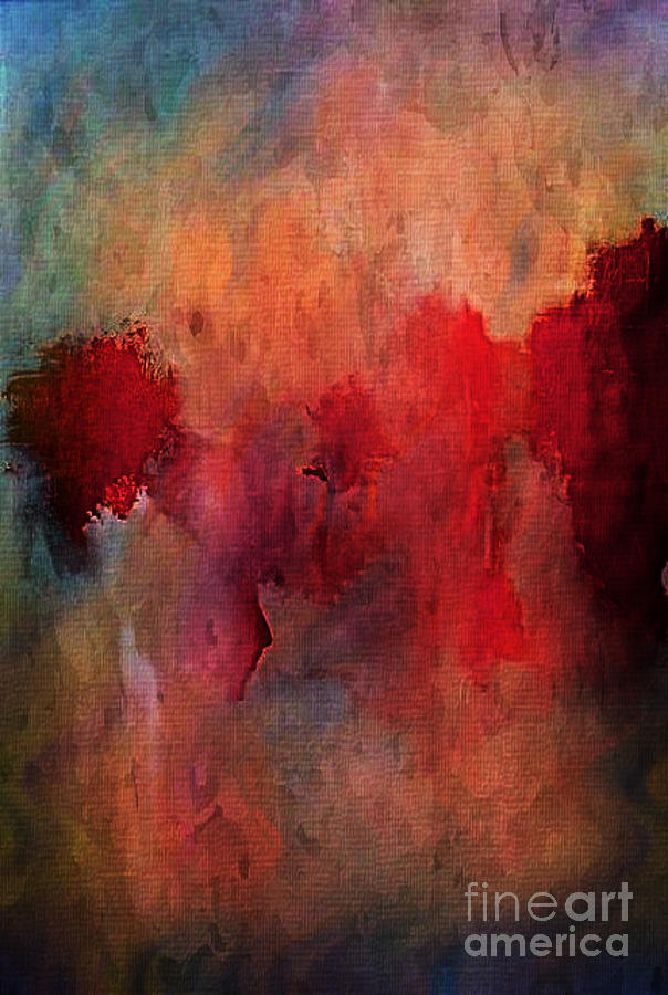 Abstract Flames Painting  - Abstract Flames Fine Art Print