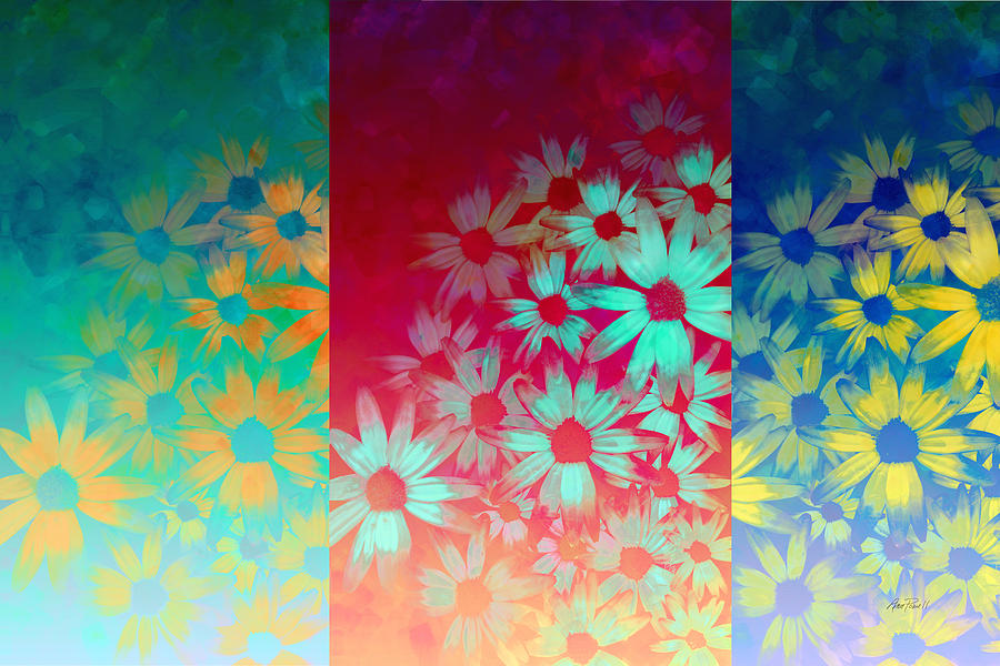 Flower Painting - abstract  - flowers- Summer Joy by Ann Powell