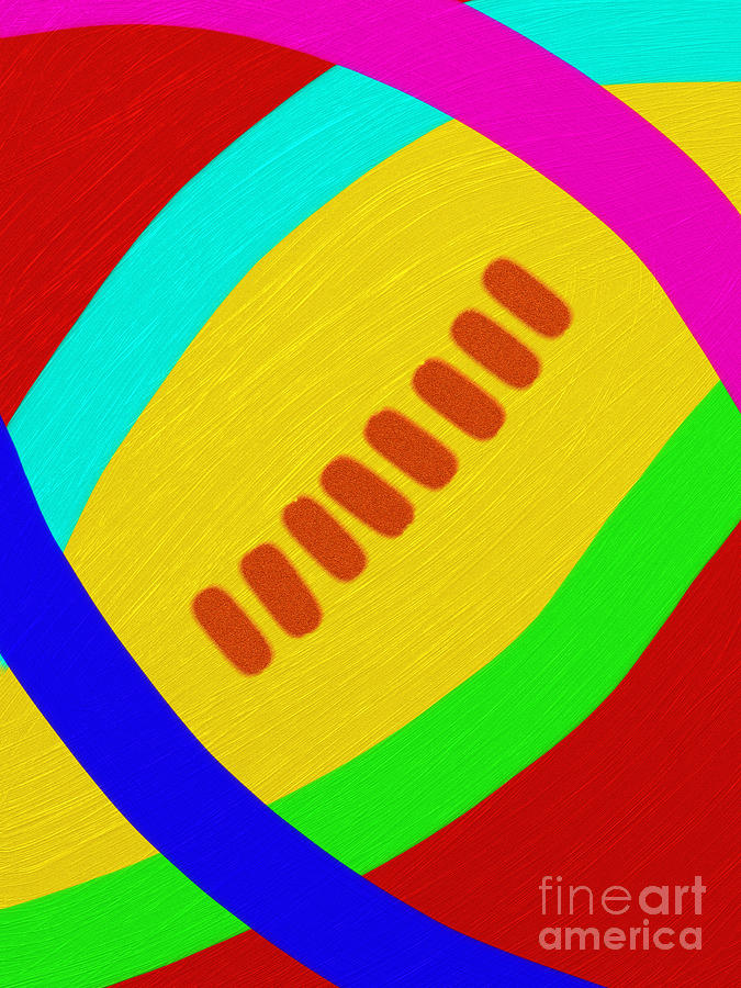 Abstract Digital Art - Abstract Football by Andee Design