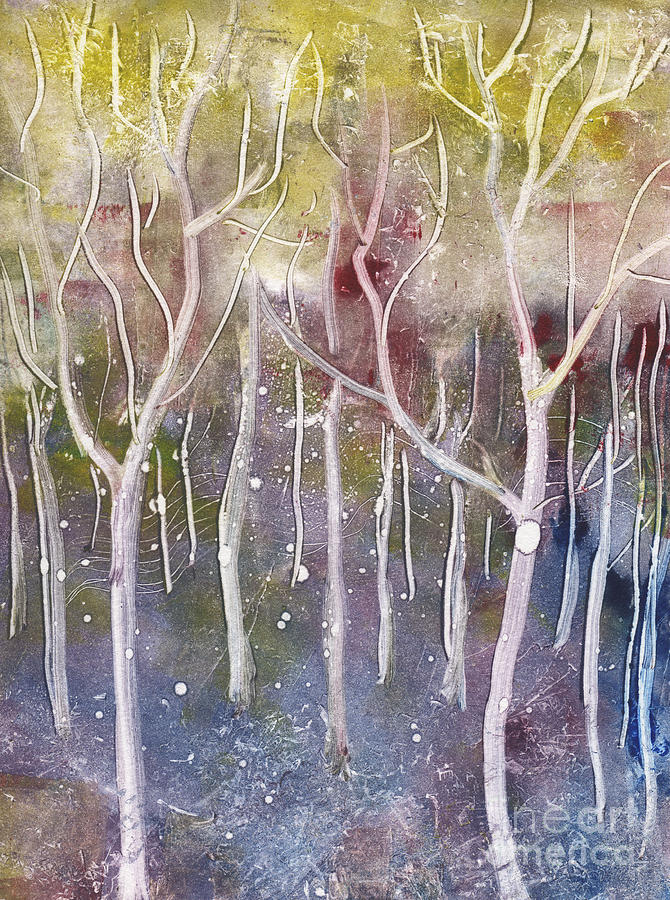 Forest Relief - Abstract Forest by Suzette Broad