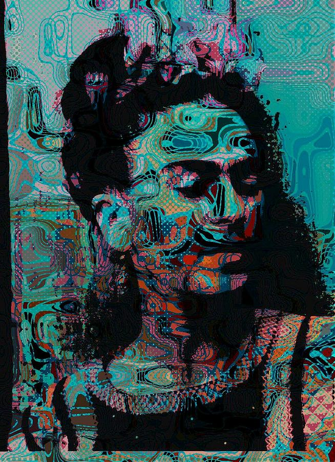 Abstract Frida Painting  - Abstract Frida Fine Art Print