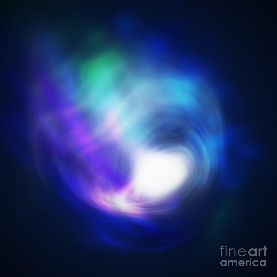Abstract Galaxy Digital Art  - Abstract Galaxy Fine Art Print