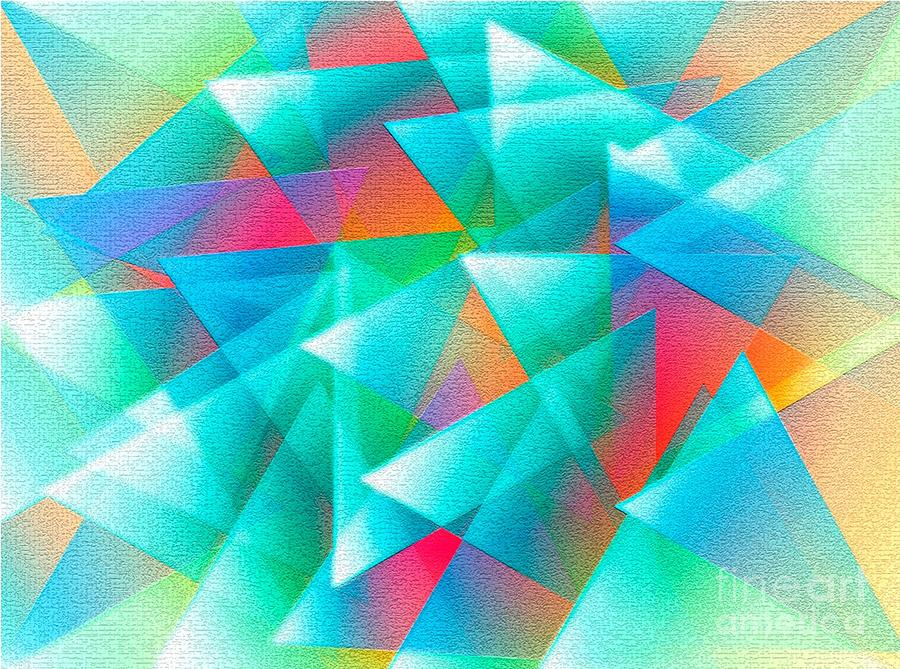Abstract Geometry Of Triangles In Digital Art Digital Art