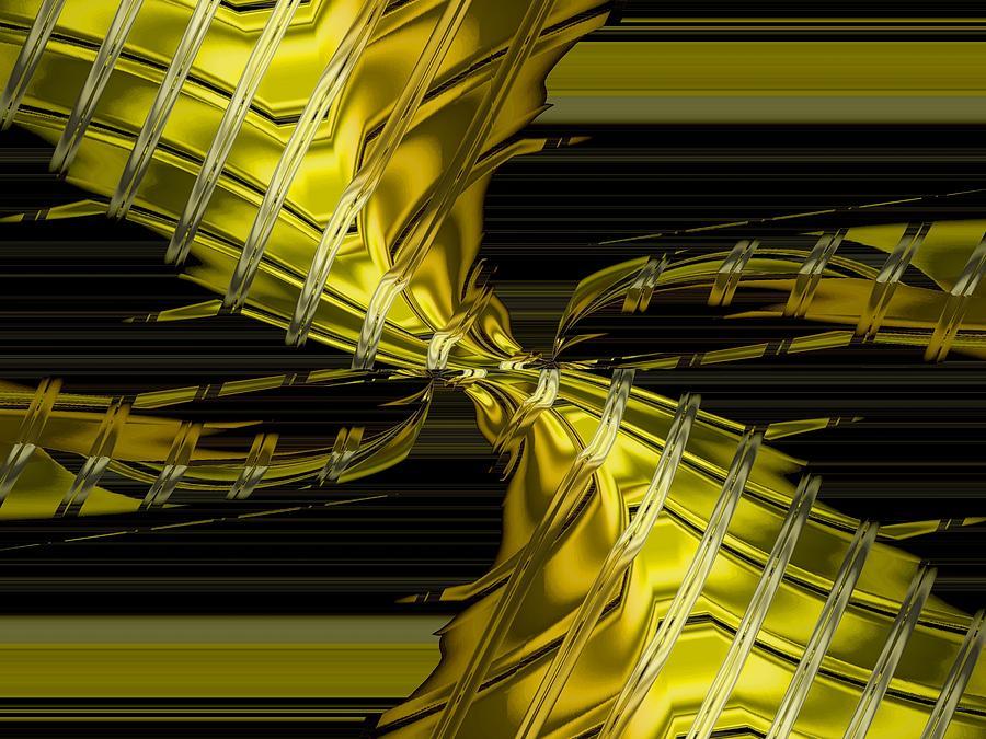 Abstract Golden Vortex Photograph