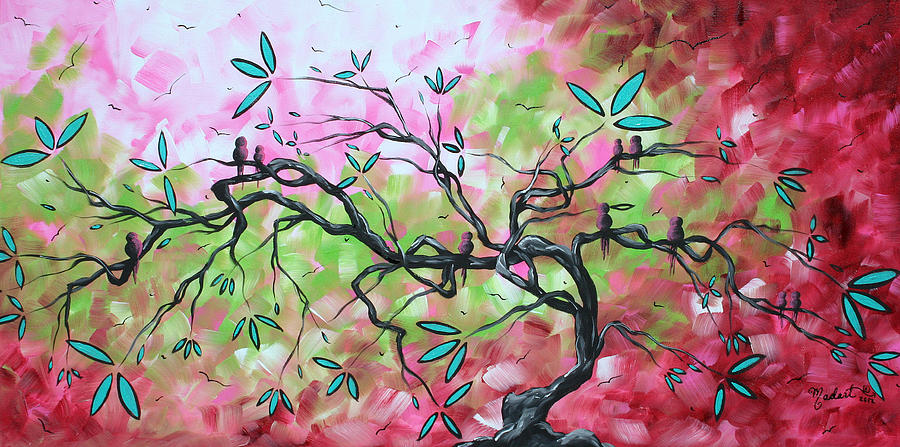 Abstract Landscape Sweet Sounds Of Spring By Madart Painting  - Abstract Landscape Sweet Sounds Of Spring By Madart Fine Art Print