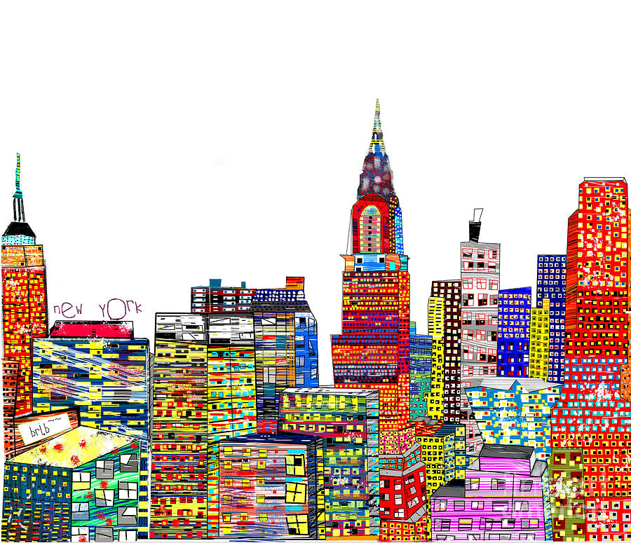 Abstract Living New York City Painting  - Abstract Living New York City Fine Art Print