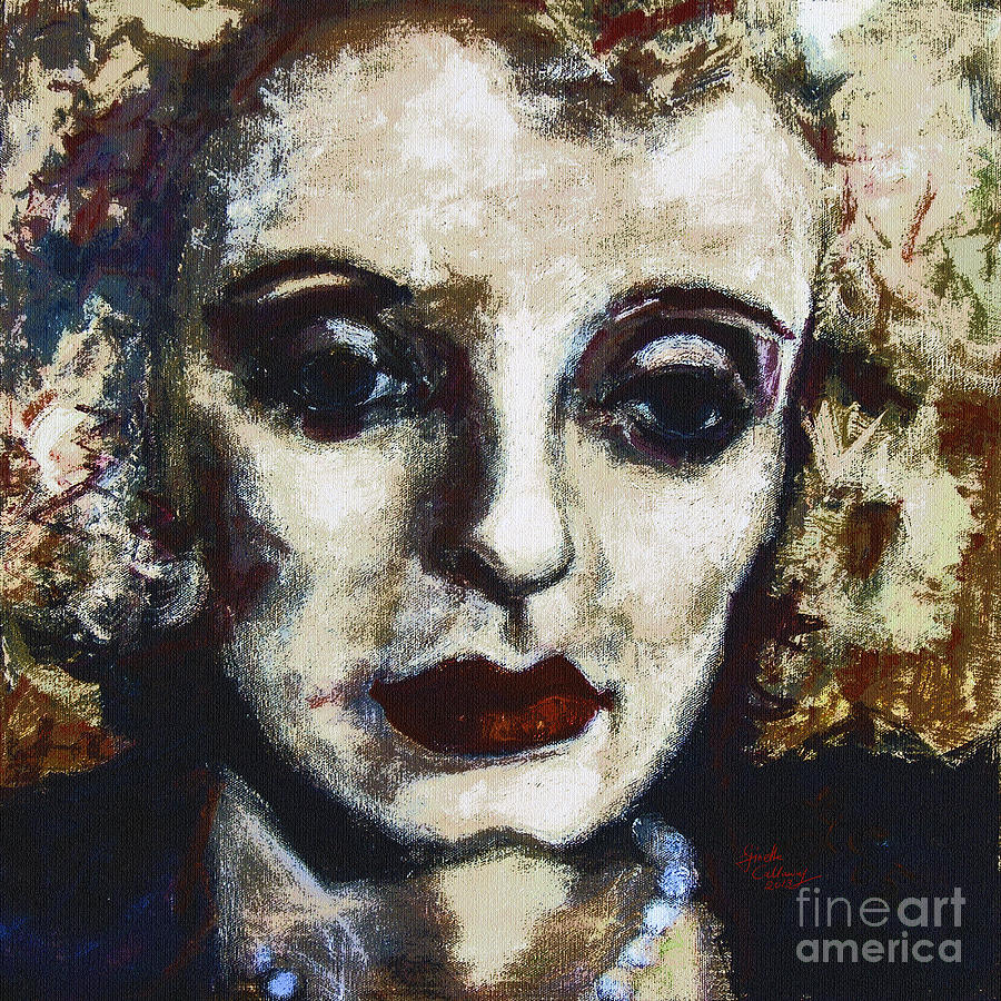 Abstract Modern Bette Davis Painting  - Abstract Modern Bette Davis Fine Art Print