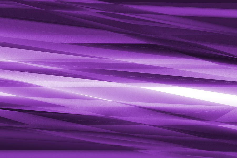 Abstract Glass Art - Abstract Modern Purple  Background by Somkiet Chanumporn