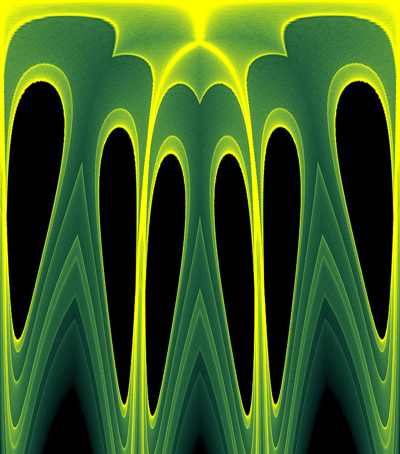 Abstract Digital Art - Abstract Of Balanced Green by Linda Phelps