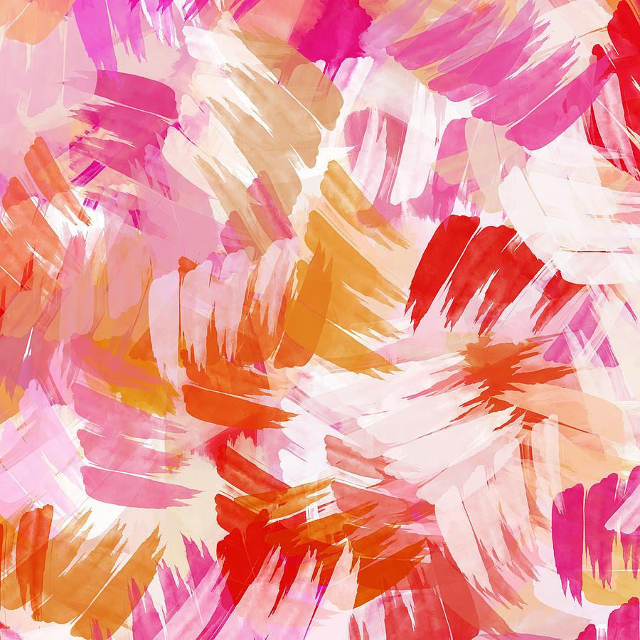 Abstract Paint Pattern Painting By Christina Rollo