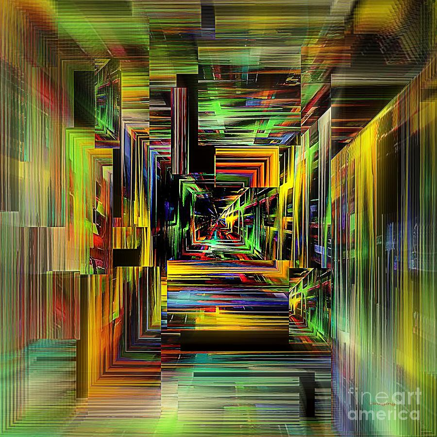 Abstract Perspective E3 Digital Art  - Abstract Perspective E3 Fine Art Print