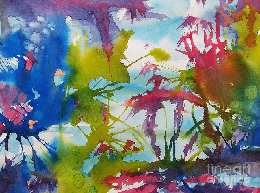 Primordial Painting - Abstract -  Primordial Life by Ellen Levinson