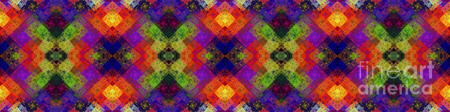 Abstract - Rainbow Connection - Panel - Panorama - Vertical Digital Art