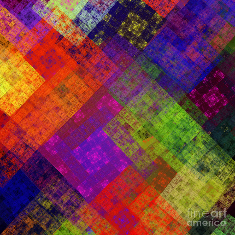 Abstract - Rainbow Infusion - Square Digital Art