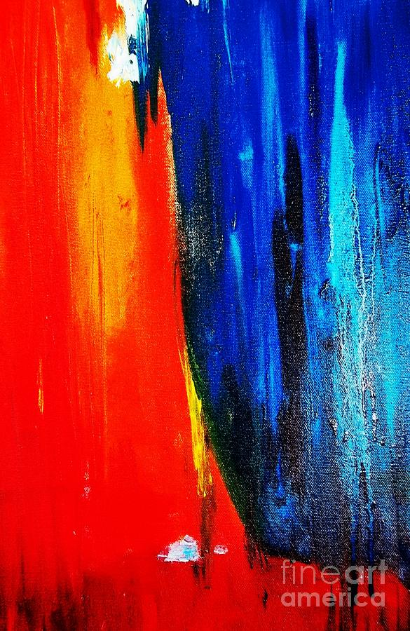 Abstract Red Blue Painting  - Abstract Red Blue Fine Art Print