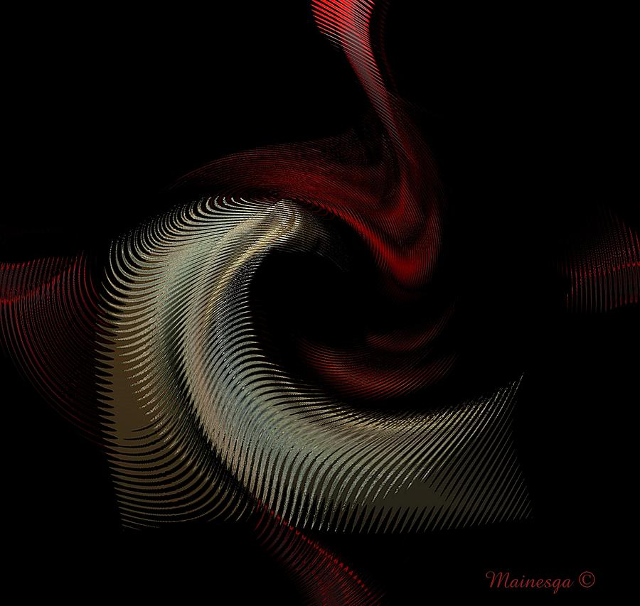 Abstract -red-gold-black Digital Art