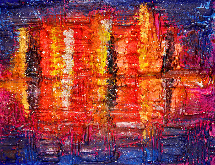 Abstract Skyline Painting