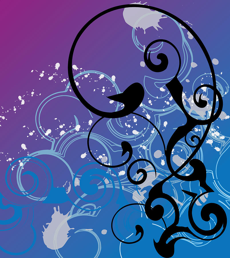 Abstract Swirl Digital Art