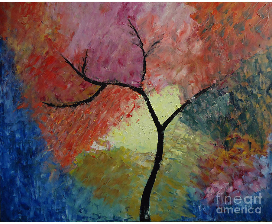 Abstract Tree Painting  - Abstract Tree Fine Art Print