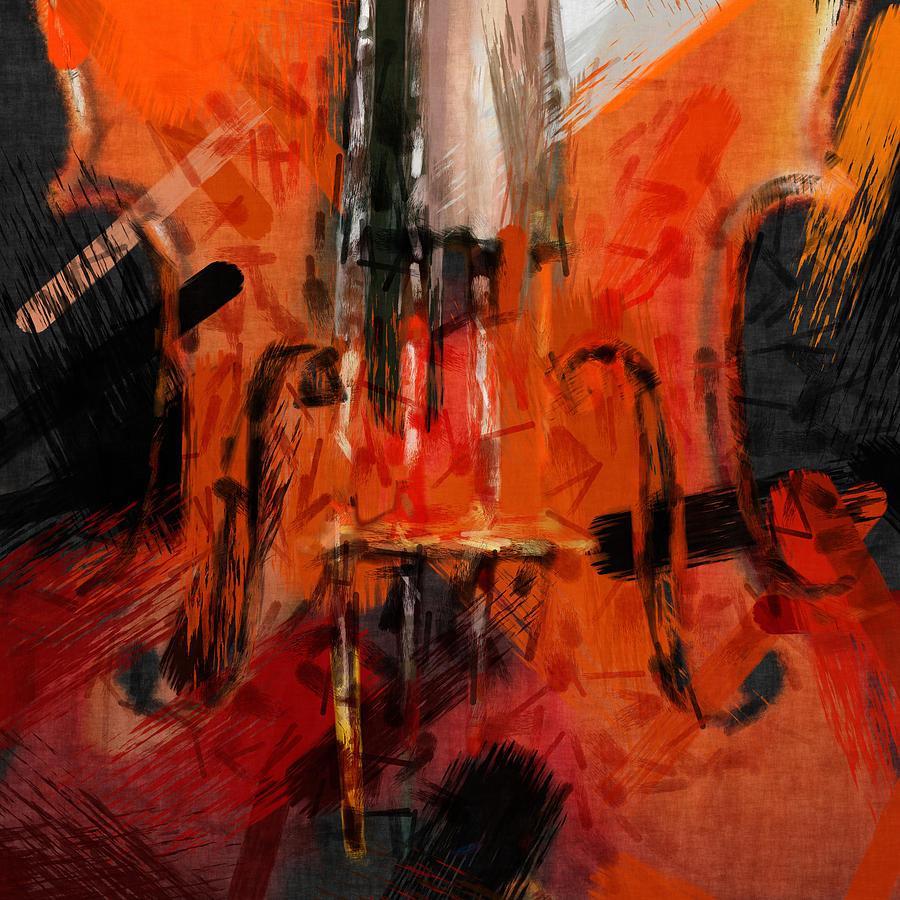 Abstract Violin Digital Art by David G Paul