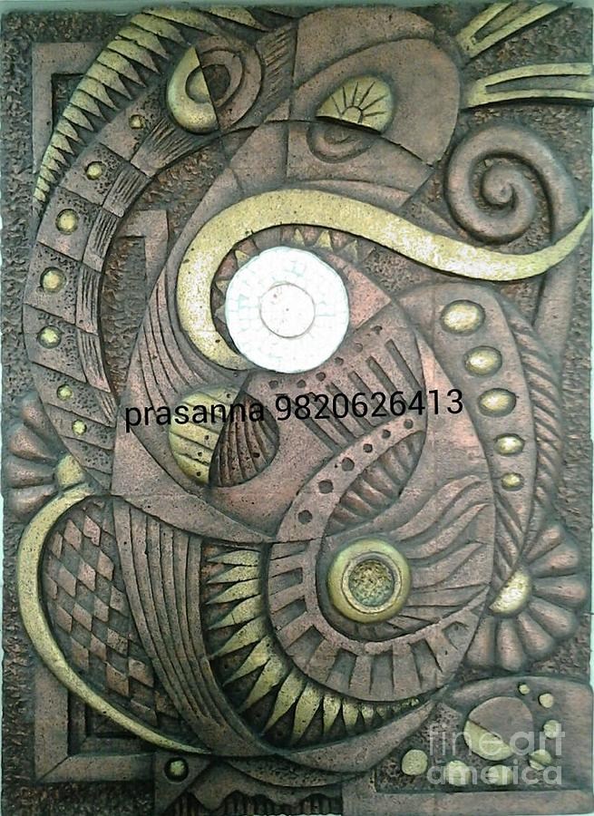 Abstract wall mural relief by prasanna chury for Abstract mural painting
