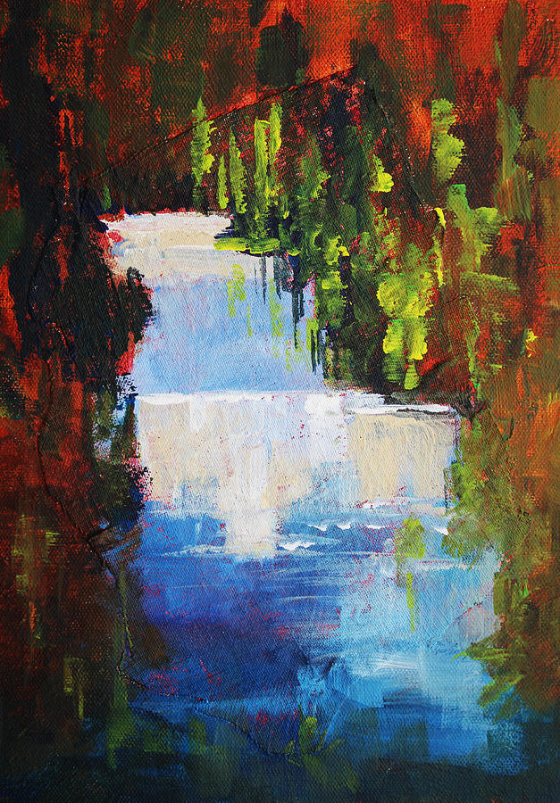 Abstract Waterfall Painting is a painting by Nancy Merkle which was ...