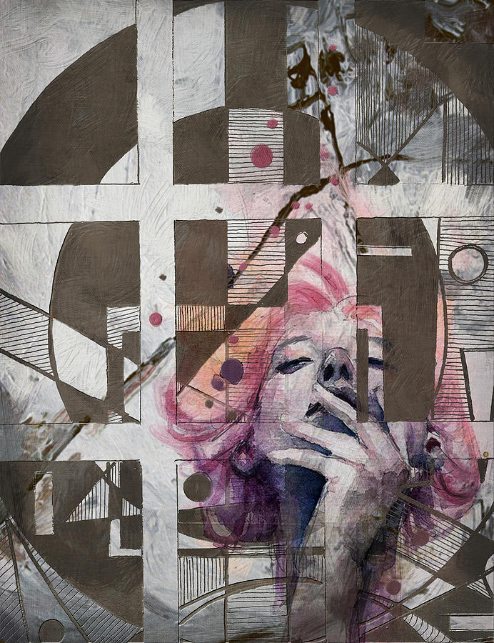 Women Painting - Abstract Woman 001 by Corporate Art Task Force