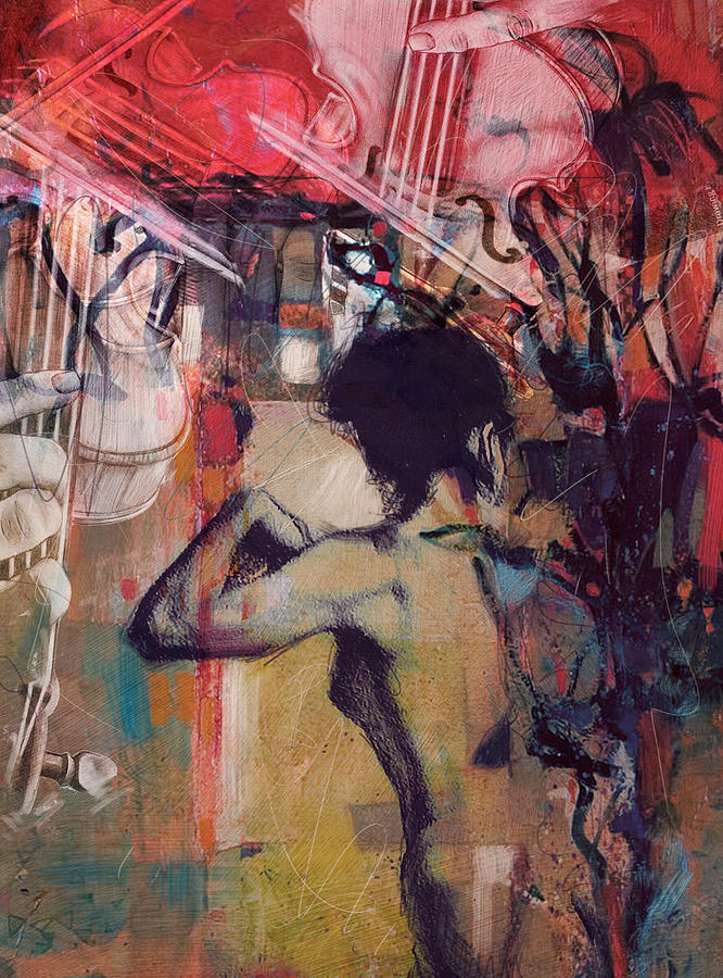Women Painting - Abstract Women 017 by Corporate Art Task Force