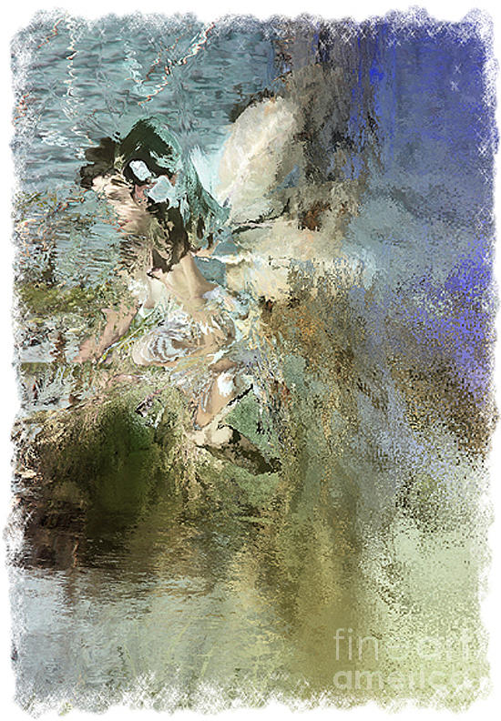 Abstracted Water Nymph Photograph  - Abstracted Water Nymph Fine Art Print