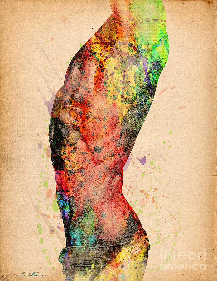 Abstractiv Body - 3 Digital Art  - Abstractiv Body - 3 Fine Art Print